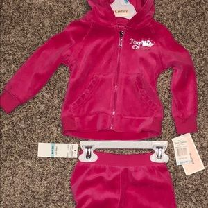Juicy Couture Baby Girl Track Suit 6-9M NWT